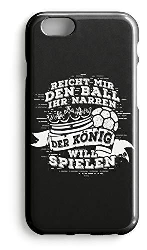 shirt-o-magic Handyhülle Handball: Der König will spielen - Case -iPhone 7-Schwarz