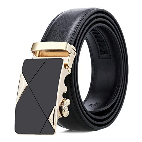 AmDxD Cintura Pelle Uomo Vintage Fibbia Automatica Cintura Uomo In Cuoio