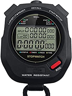 JINHAN ساعة توقيت للماء الرقمية المهنية اليد LCD كرونوغراف ساعة توقيت للخارجية الرياضة في الهواء الطلق الرياضة Stopwatches