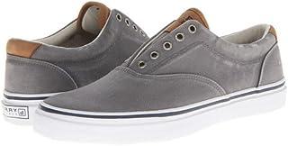 (スペリートップサイダー) SPERRY TOPSIDER メンズカジュアルシューズ・スニーカー・靴 Striper CVO Salt-Washed Twill Grey 8.5 26.5cm M (D) [並行輸入品]