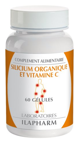 Laboratoires Ilapharm - SILICIUM ORGANIQUE & VITAMINE C - Os et articulations  - Cartilage - Flacon de 60 gélules