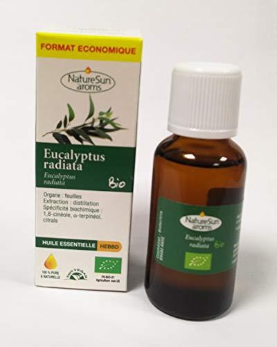 Naturesun aroms - Huile essentielle eucalyptus radiata bio - 30 ml huile essentielle - Le soin des v