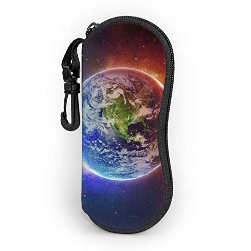 Space Planet Earth - Funda suave para gafas de sol para mujer y hombre, ultraligera y portátil, con mosquetón.