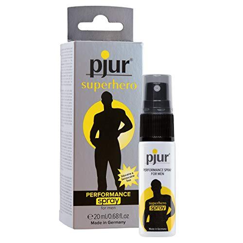 pjur superhero PERFORMANCE spray - Verzögerungsspray für Männer - reduziert die Empfindlichkeit - ganz ohne zu betäuben (20ml)