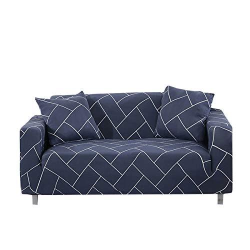 Yunchengyunxiangtong Stretch Couch Universal-Sofa-Abdeckung Handtuch Full Cover Schein Einzel DREI-Personen-Sofa-Abdeckung Einfache Linie Stretch All-Inclusive-Sofa-Abdeckung (Size : Quadruple)