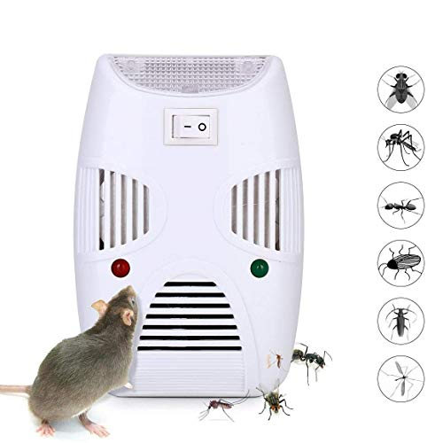 Wosta Ultrasonic Pest Control Repeller,Home Pest Control Reject Device Non-Toxic Mice Repellent Indoor for Ant, Rats, Roaches, Fruit Fly, Rodent, Insect Safe for Human
