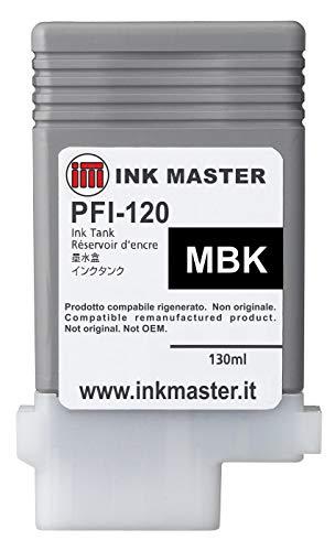 Ink Master - Cartuccia rigenerata CANON PFI-120 MATTE BLACK per Canon IPF TM-200 TM-205 TM-300 TM-305