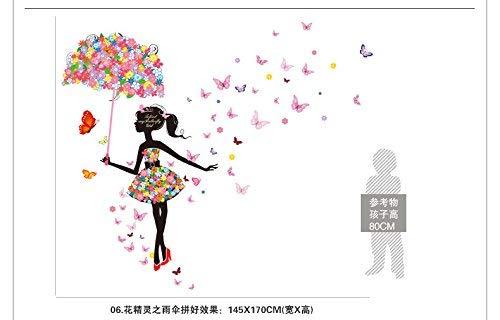 wallpaper Selbstklebende Hintergrund-Wand, entfernbare Abziehbilder Musik-Straßen-Lampe ist akzentuierte Hyun-Plakate Weg von Wand-Wand-Dekorations-Katze Animalshattake EIN Kobold-Regenschirm, dekora