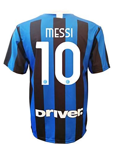 L.C. SPORT Maglia Inter Lionel Messi 10 Replica Autorizzata Bambino (Taglie-Anni 2 4 6 8 10 12) Adulto (S M L XL) (M Adulto)