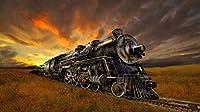 美しい蒸気機関車500ピース木製ジグソーパズル家族向けゲームプレイコレクションに最適