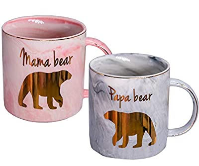Mugpie Coffee Mugs - Novelty New Parents Gifts First Time Pregnancy Gifts for Baby Shower Mother's Day Father's Day Christmas 2020-11.5oz Pink Ceramic Coffee Cup