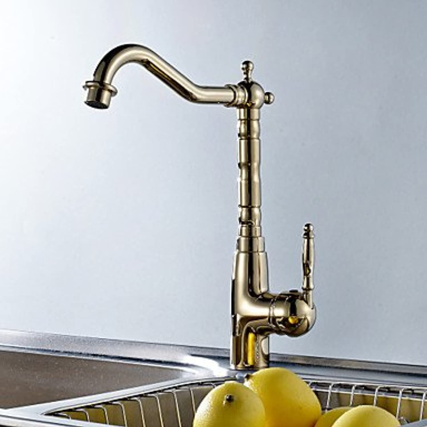 Bari-Contemporary Single Handle Deck Mounted Kitchen Faucet