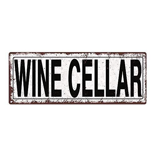 IUBBKI Letrero rústico vintage para bodega de vino, tamaño aproximado: 20 x 30 cm