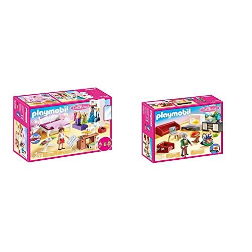 Playmobil Dollhouse 70208 Dormitorio, con Efectos...