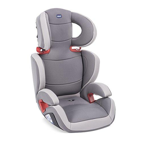 Chicco Key 23 Seggiolino Auto 15-36 kg, Reclinabile, Gruppo 2 3 per Bambini da 3 a 12 Anni, Facile da Installare, Altezza e Larghezza Regolabili, Grigio