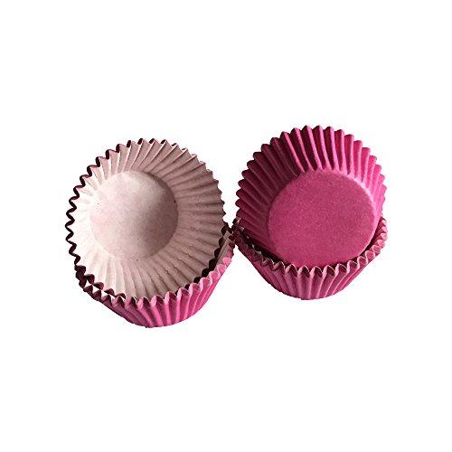 Tasty Cooky Shop Lot de 40 mini caissettes à muffins en papier Rose vif