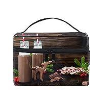 便携式クリスマスフードチョコレート メイクボックス 收納抜群 大容量 可愛い 化粧バッグ 旅行