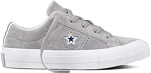 Converse Lifestyle One Star Ox Suede, Zapatillas de Deporte Unisex niños, Gris (Wolf Grey/White/Navy 097), 27 EU