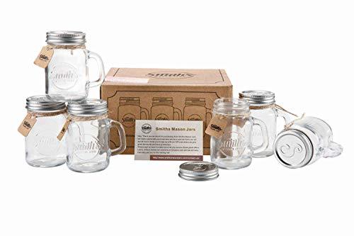 120ml Mini Mason Jar Shot Glasses set of 6 Shot Glasses, great gift tag Wedding Favors, Mason Jar Sand and Pepper shakers, shots you name it! | Smith's Mason Jars