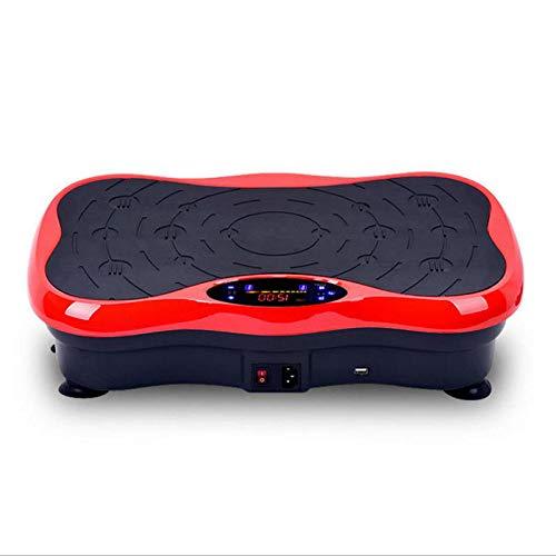 B/H Plataforma Vibración Pantalla LCD,Agite la Mini máquina de Adelgazamiento, máquina de Belleza de Cintura Ultrafina-Negra,Plataforma Vibratoria Fitness