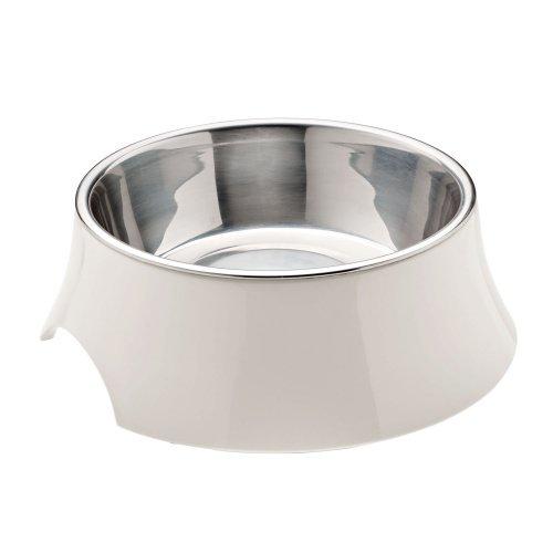 HUNTER ATLANTA Melamin-Napf, Futternapf, Trinknapf, für Hunde und Katzen, herausnehmbarer Edelstahlnapf, 700 ml, weiß
