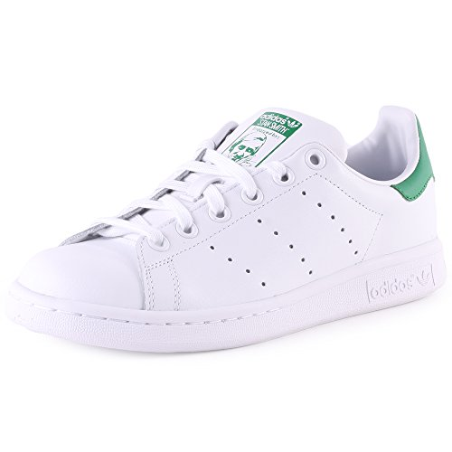 adidas Stan Smith J Zapatillas Unisex Niños, Blanco (Footwear White/footwear White/green 0), 35.5 EU