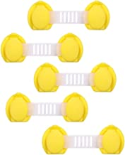Yousiju 5 stuks kastsloten Veiligheidsbescherming voor veiligheidsriemen Ladeslot Garderobe koelkasten lang (Color : Yello...