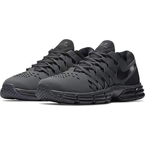 Nike Men's Lunar Fingertrap Cross Trainer, Anthracite/Black, 12.0 Regular US