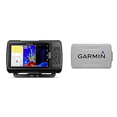 Garmin STRIKER Plus 7cv with CV20-TM Transducer and Protective Cover, 7 inches 010-01873-00 by Garmin