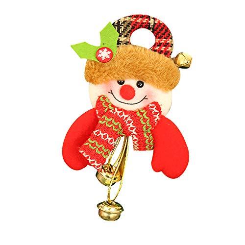 BBQQ - Decoración navideña, regalo de Papá Noel, muñeco de nieve, juguete para colgar, decoración de Navidad, decoración de árboles, decoración de faldas, luces de pijama para la familia