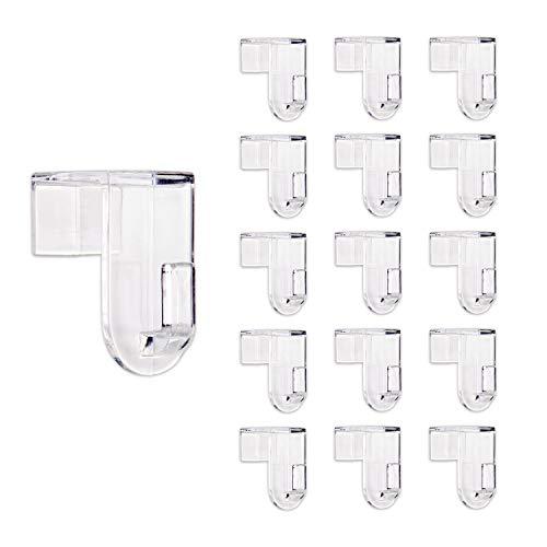 Bada Bing Fensterhaken 16er Set - Transparente Türhaken - Robuste und praktische Haken - Für jede Rahmenfarbe - Stabile Halterung Fenster - Ohne Kratzer am Fensterrahmen