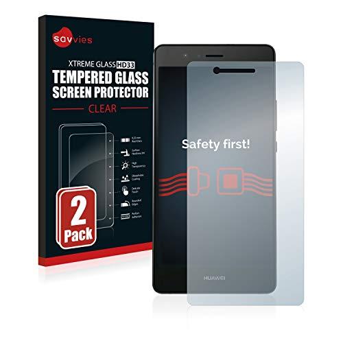 savvies Pellicola Vetro Temperato Compatibile con Huawei P9 Lite / G9 Lite (2 Pezzi) Protezione Protettivo Schermo Glass Durezza 9H