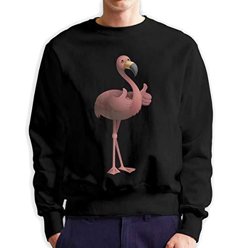 Sunwan Rood Flamingo Duimen omhoog Mouw Lange Shirt Top Tops Casual Sweatshirt Blouse Tee Shirts Tees Klassieke Crewneckpatchwork Korte tiener Grote Blouses