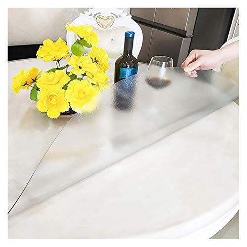 Jeseca Mantel grueso transparente transparente protector de mesa, protector de mantel transparente, PVC impermeable/resistente al aceite (tamaño: 1,5 mm x 80)