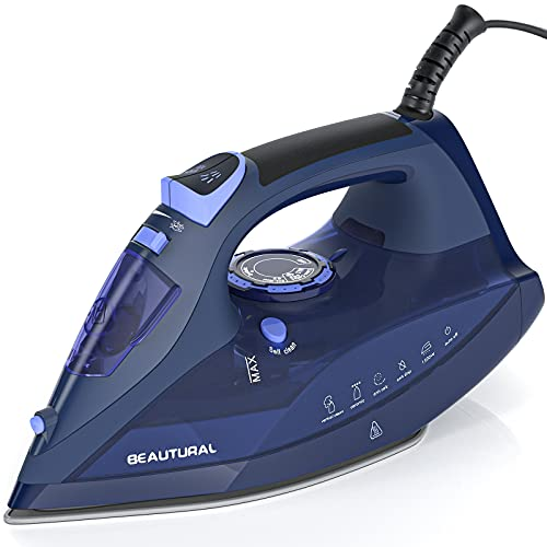 BEAUTURAL Steam Iron for Clothes with Precision Thermostat Dial,...