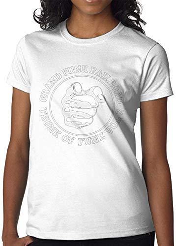 Womens Grand Funk Railroad Logo Short Sleeve Personality Shirt,In Figure,X-L