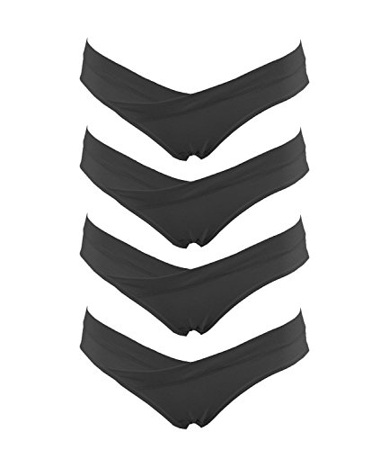 Crazy Cart Damen Umstands-Bikini, 4 Stück - Schwarz - Large