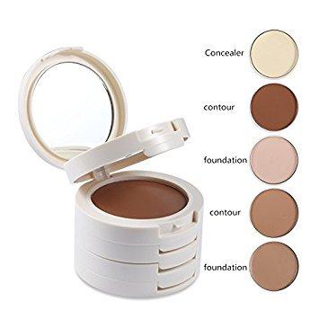 5 In 1 Concealer Cream Palette Contouring Foundation Base Face Bronzer Contour Makeup Up Set by TANALI
