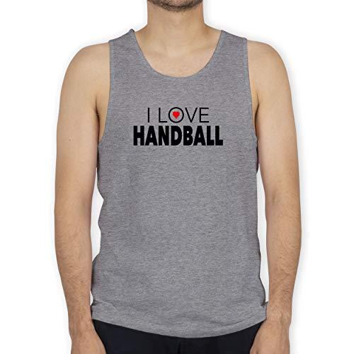 Shirtracer Handball - I Love Handball - XL - Grau meliert - Tank Top - BCTM072 - Tanktop Herren und Tank-Top Männer