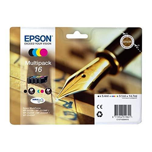 Epson 16 Serie Penna, Cartuccia Originale Getto d'Inchiostro DURABrite Ultra, Formato Standard, Multipack 4 Colori, con Amazon Dash Replenishment Ready