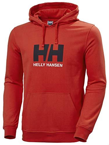 Helly Hansen HH Logo Hoodie Hoodie, Hombre, Rojo Alerta, 2XL