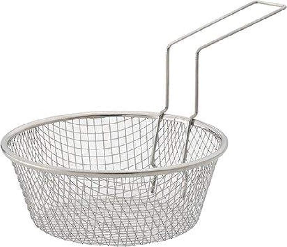 HIC Harold Import Co 30019 HIC Fry Basket 18 8 Stainless Steel 7 Inches Metallic