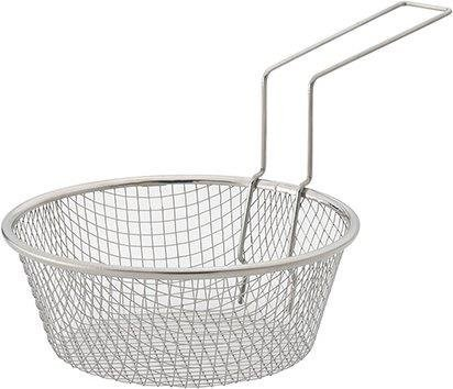 HIC Harold Import Co. HIC Fry Basket, 18/8 Stainless Steel, 7-Inches, Metallic