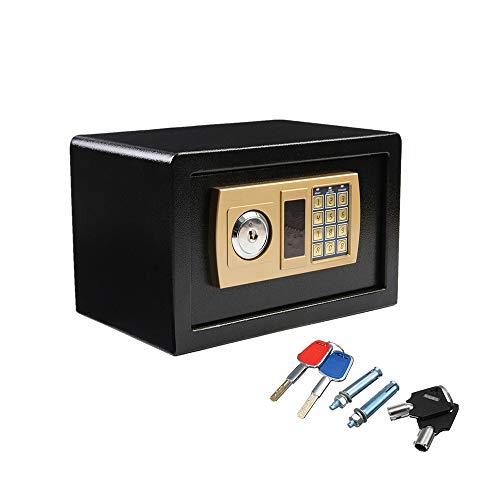Voolok Digitaler Sicherheits-Safe, Tastatur und Tastensperre, für Schmuck, Geld, Wertsachen, Wandschrank-Safe, für den Heimbüro-Hotel-Geschäftsgebrauch, schwarz
