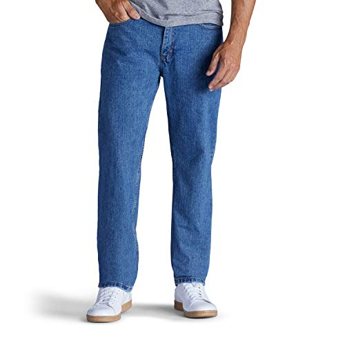 Lee Men's Relaxed Fit Straight Leg Jean, Pepperstone, 40W x 34L