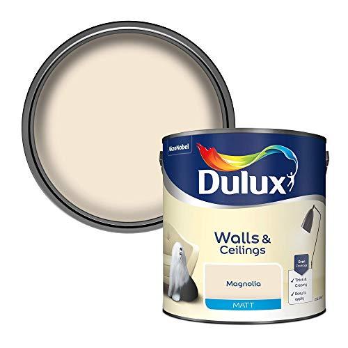 Dulux 500006 Matt Emulsion Paint For Walls And Ceilings - Magnolia...