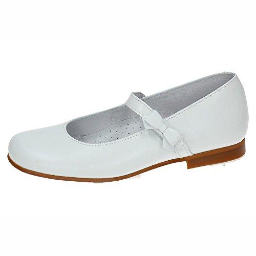 BAMBINELLI 3822 Merceditas Piel Lazo NIÑA Zapato COMUNIÓN Blanco 34
