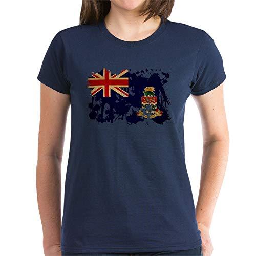 CafePress Cayman Islands Flag Women's Dark T Shirt Womens Cotton T-Shirt Navy