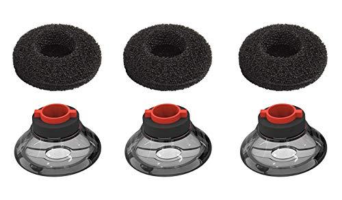 3X Ultra Comfort Eartips Ear Buds Replacement Earphone Ear Tips Kits Earpads Foam Set Cushion for Plantronics Voyager 5200 5220 5210 Series Bluetooth Headset Headphone (Medium M)