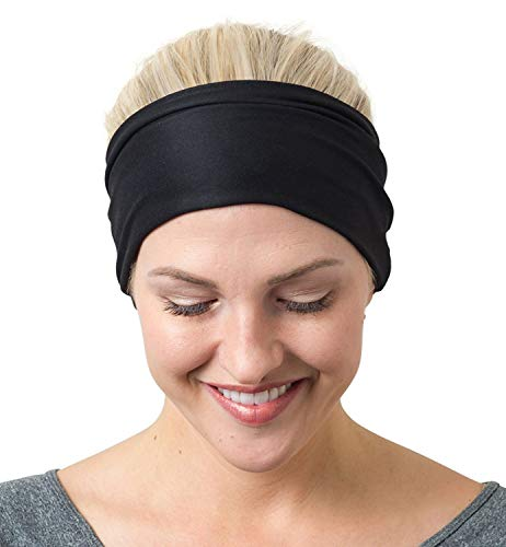 RiptGear Wide Headbands for Women - Workout Headbands for Yoga Running and Gym - Cute Thick Non-Slip...